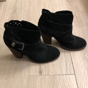 Suede booties from Betsey Johnson